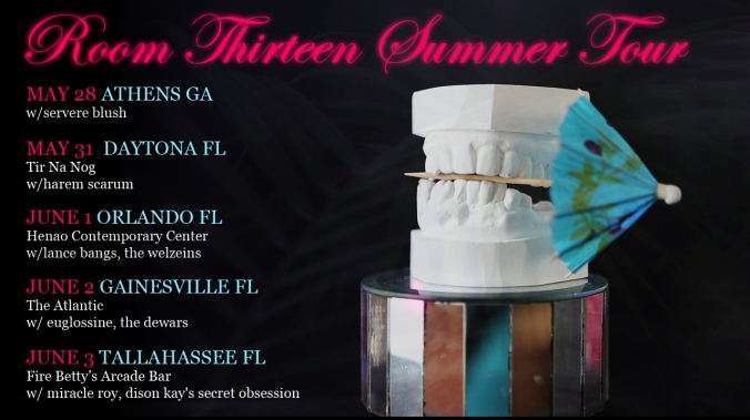 Room Thirteen tour graphic